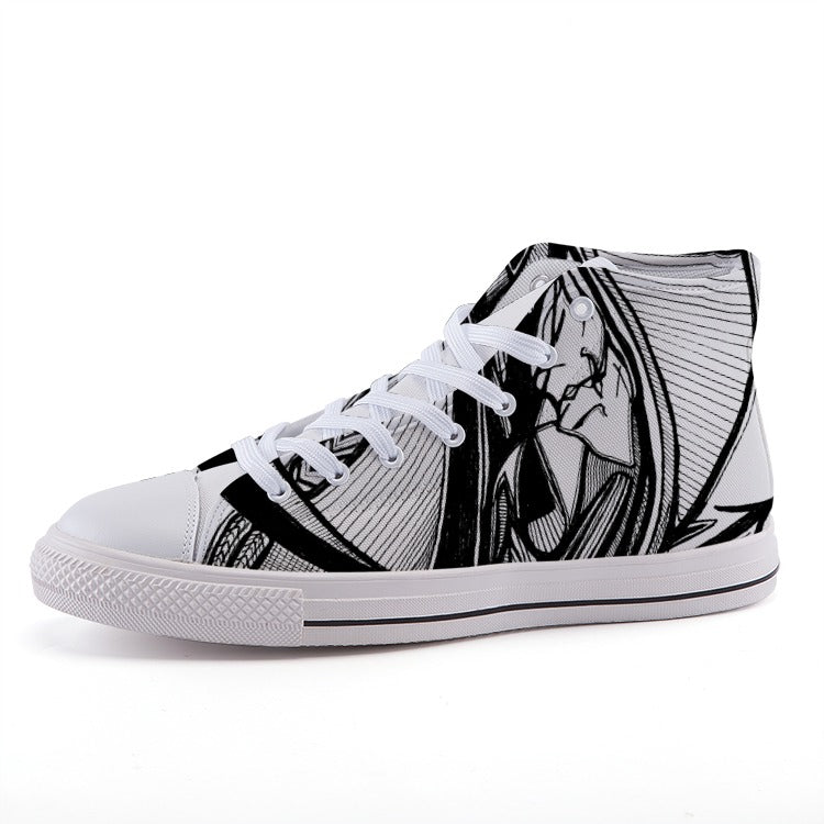 AlterE #6: High-top fashion canvas sneakers