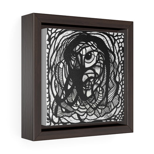 IAM Man - Square Framed Premium Gallery Wrap Canvas