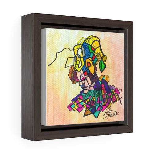 The Jester: Square Framed Premium Gallery Wrap Canvas
