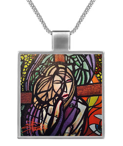 Jesus on Cross Necklace Square Necklace