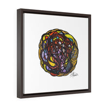 Load image into Gallery viewer, Circle of Light - Square Framed Premium Gallery Wrap Canvas