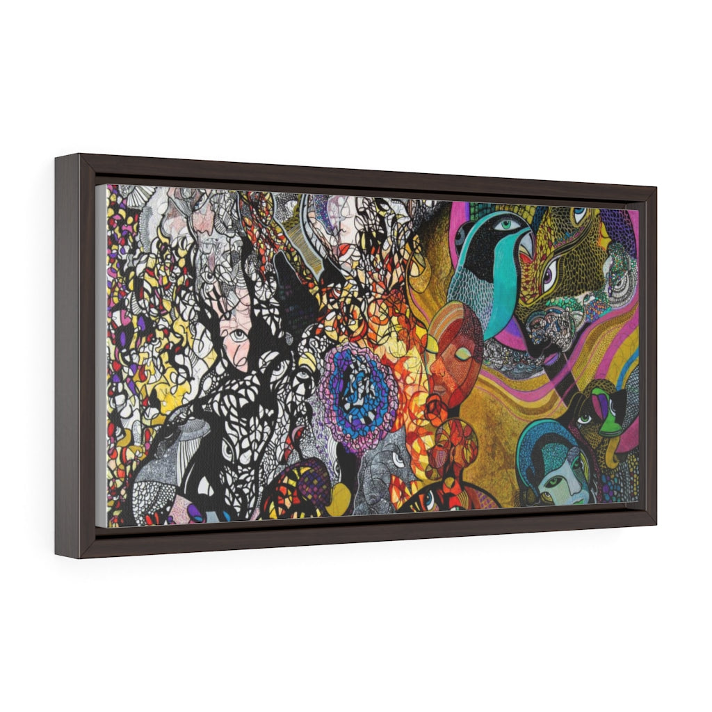 Light Between - Horizontal Framed Premium Gallery Wrap Canvas