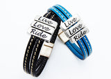 LILO® Collections Wynne Stitched Leather Bracelet