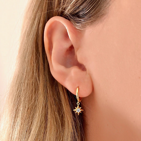 Bright Star Hoops - Jewelryqueen.de