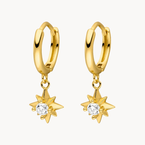 Bright Star Hoops - Jewelryqueen