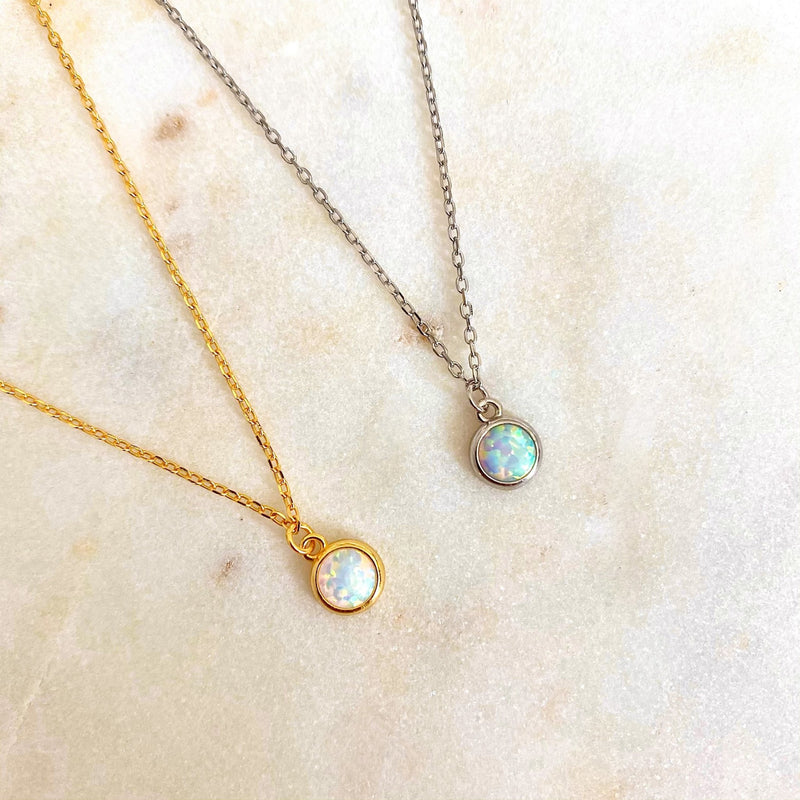 Shimmer Opal Necklace - Leselles