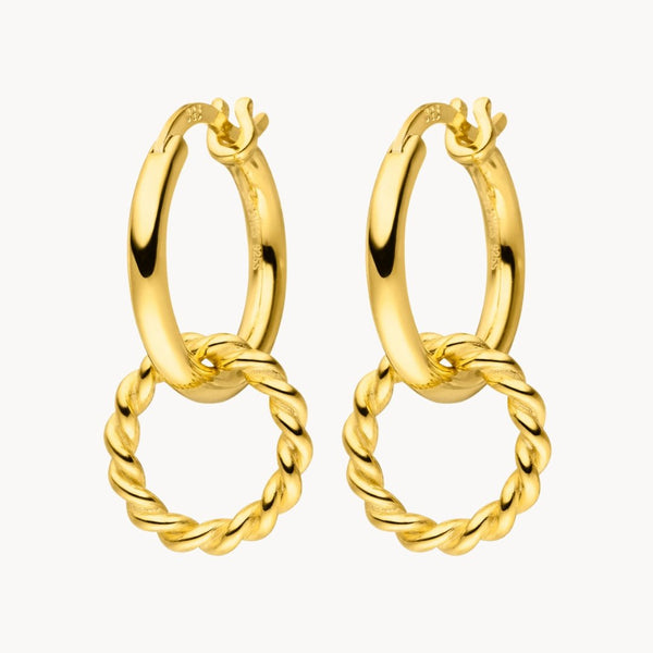 Twisted Circle Hoops - Leselles