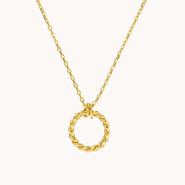 Twisted Circle Necklace - Leselles