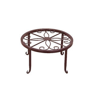 Indoor Outdoor Plant Stand Metal Flowerpot Stand Round Iron Plant Pot Holder 24x24x13cm