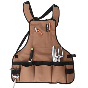 Men Women Garden Tool Apron Canvas Apron with Multi-Pockets for Garden Workers Cleaner