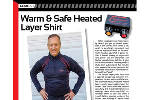 Rider Magazine's GEARLAB review of our new 12V Heatlayer