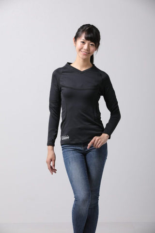 Women's V-Neck Long Sleeve Heat Layer in Black