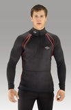 Men's Heated-Neck Long Sleeve Heat Layer 7.4V - Black