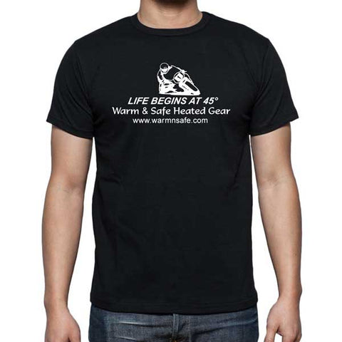 Warm & Safe Life Begins at 45 degrees Men's T-Shirt