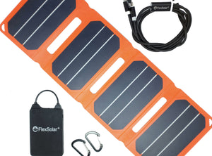 Flex Solar Solar panel and battery set