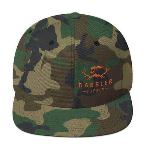 The Teddy Camo Snapback Hat - Dabbler Supply