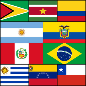 Courtesy Flags set - South America
