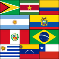 LAIVAA Courtesy Flags set - South America