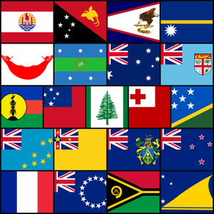 Courtesy Flags set - South Pacific Islands