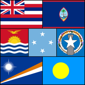 Courtesy Flags set - North Pacific Islands