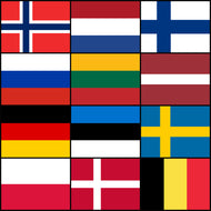 LAIVAA Courtesy Flags set - Northern Europe