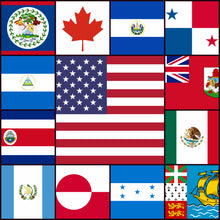 LAIVAA Courtesy flags set - Central & North America
