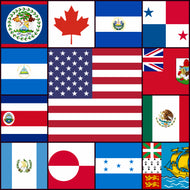 Courtesy Flags set - Central & North America