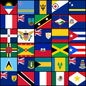 Courtesy Flags set - Caribbean countries