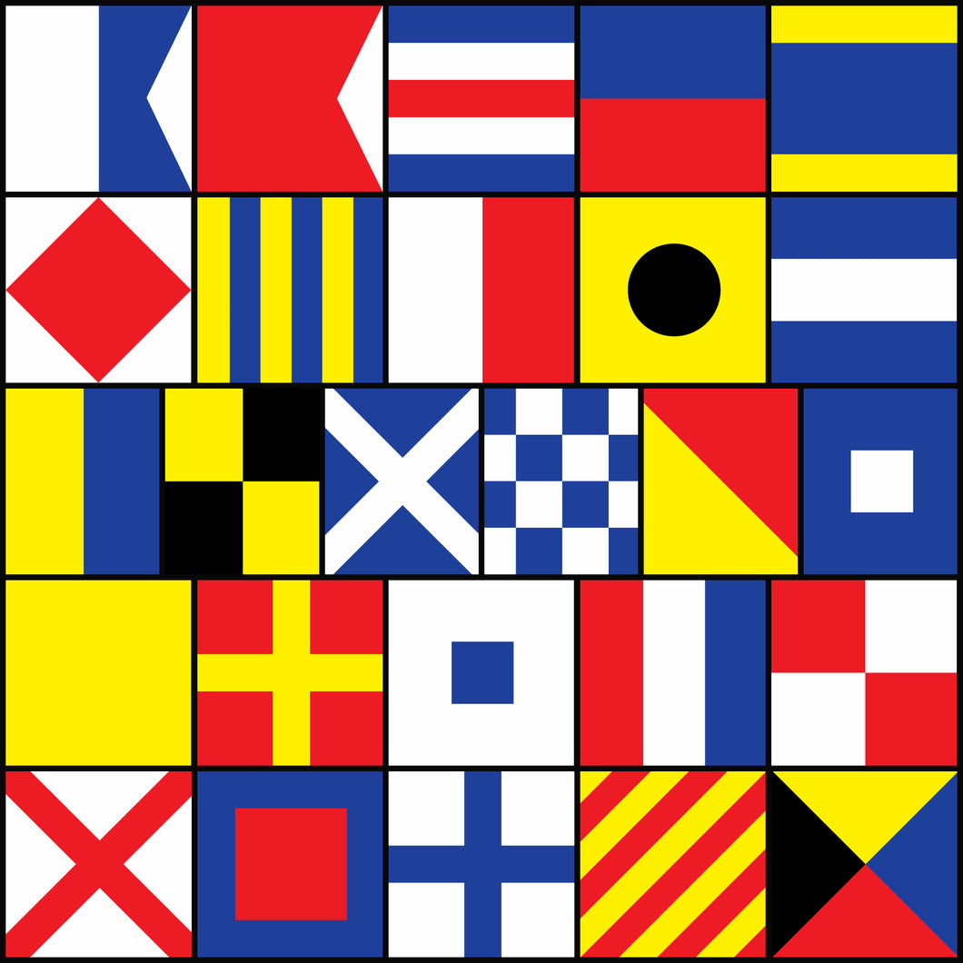 LAIVAA International maritime signal flags set