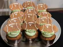 Load image into Gallery viewer, All natural football themed dog cupcakes pupcakes birthday football season