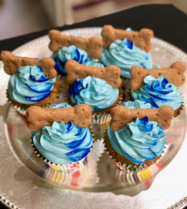 All natural dog cupcakes pupcakes birthday swirl