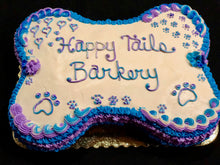 Load image into Gallery viewer, Bone Shaped Dog Birthday Cake