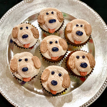 Load image into Gallery viewer, All natural dog cupcakes pupcakes birthday dog face