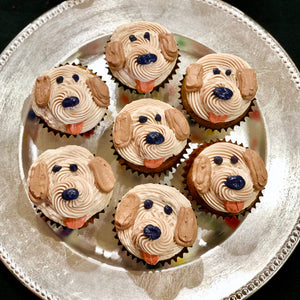 All natural dog cupcakes pupcakes birthday dog face