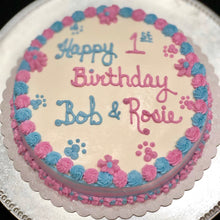 Load image into Gallery viewer, Round Dog Birthday Cake