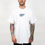 WHITE TSHIRT SAVAGE CLUB 3D LOGO - PREMIUM COTTON