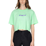 MINT SAVAGE CLUB LOGO CROP TOP