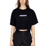 BLACK SAVAGE CLUB LOGO CROP TOP - PREMIUM COTTON -