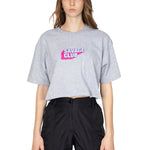 GREY SAVAGE CLUB LOGO CROP TOP - PREMIUM COTTON -