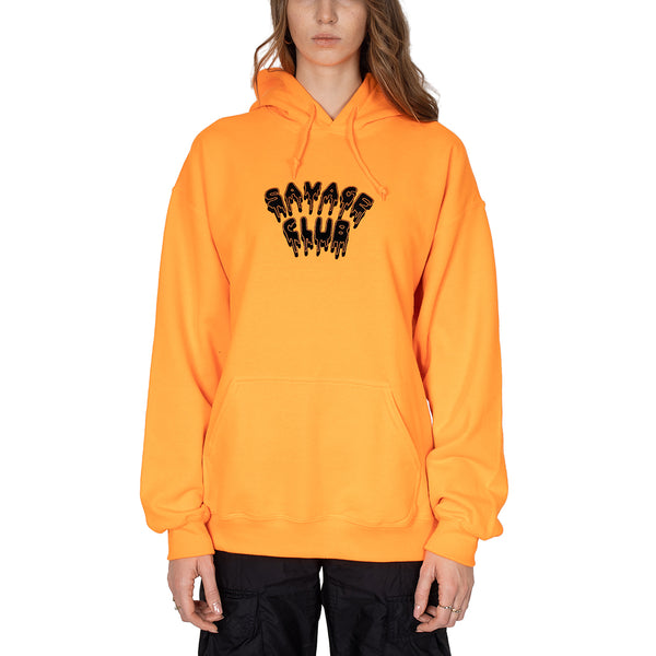 ORANGE HOODIE SAVAGE CLUB LEAK LOGO
