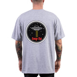 SAVAGE CLUB GREY T-SHIRT U.F.O LOGO
