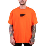 SAVAGE CLUB  ORANGE T-SHIRT  3D LOGO