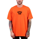 SAVAGE CLUB  ORANGE T-SHIRT  LEAK LOGO