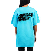 SAVAGE CLUB  LAGOON T-SHIRT BLACK 3D LOGO
