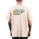 SAVAGE CLUB  SAND T-SHIRT  3D LOGO