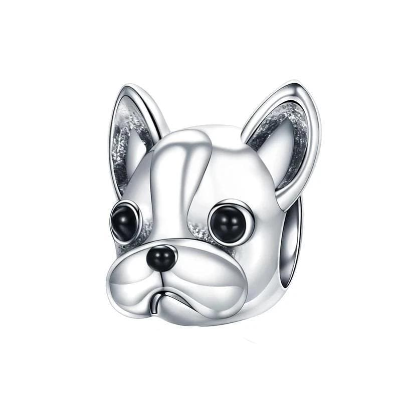 Charms French Bulldog Charm Silver
