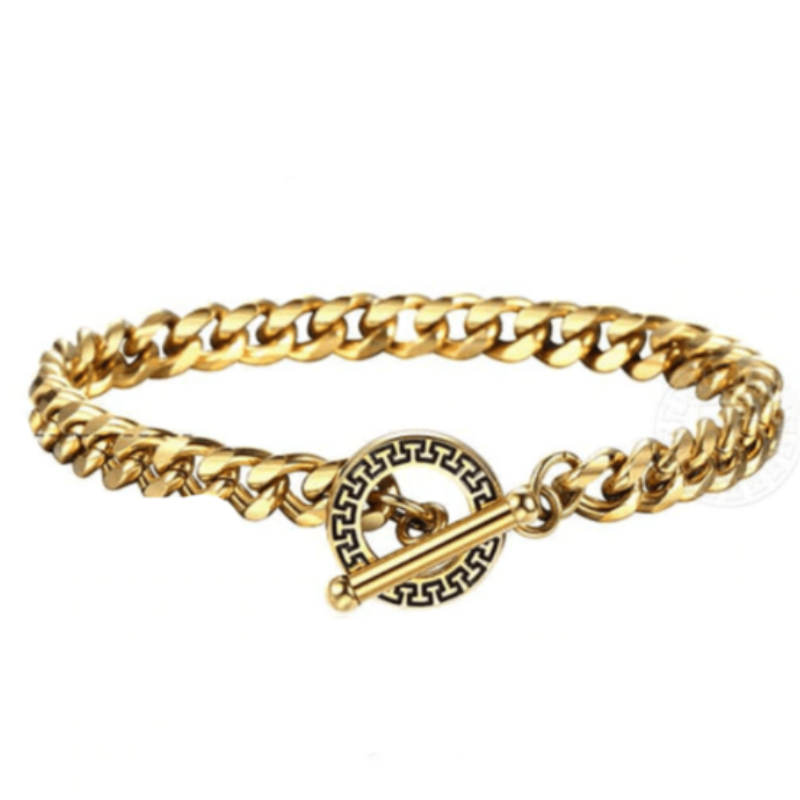 Mens Stainless Steel Bracelets Gold Cuban Link Chain Mens Stainless Steel Bracelets 20cm / Gold