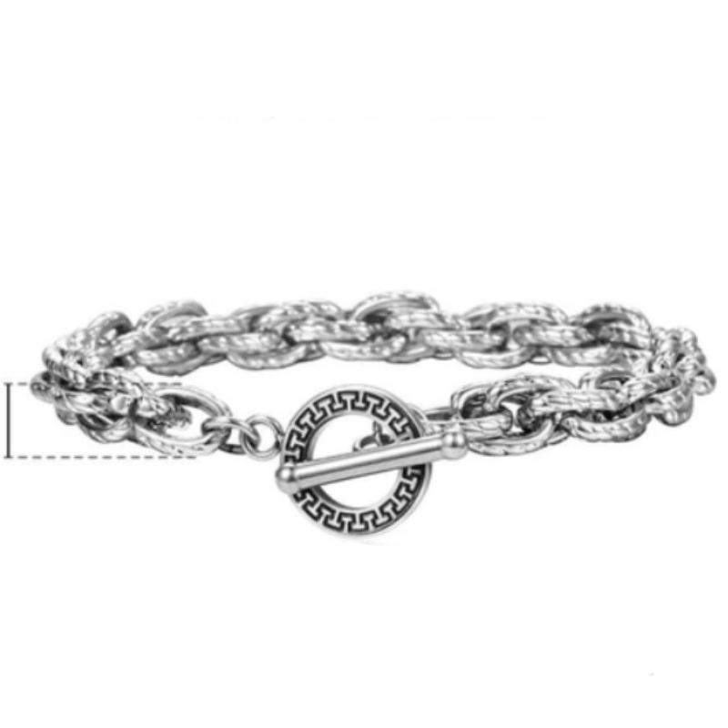 Mens Stainless Steel Bracelets Wide Chain Tribal Mens Stainless Steel Bracelets 20cm / Silver