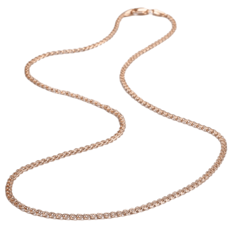 Necklaces Womens Rose Gold Chain Link Necklace Gold / 20 inch
