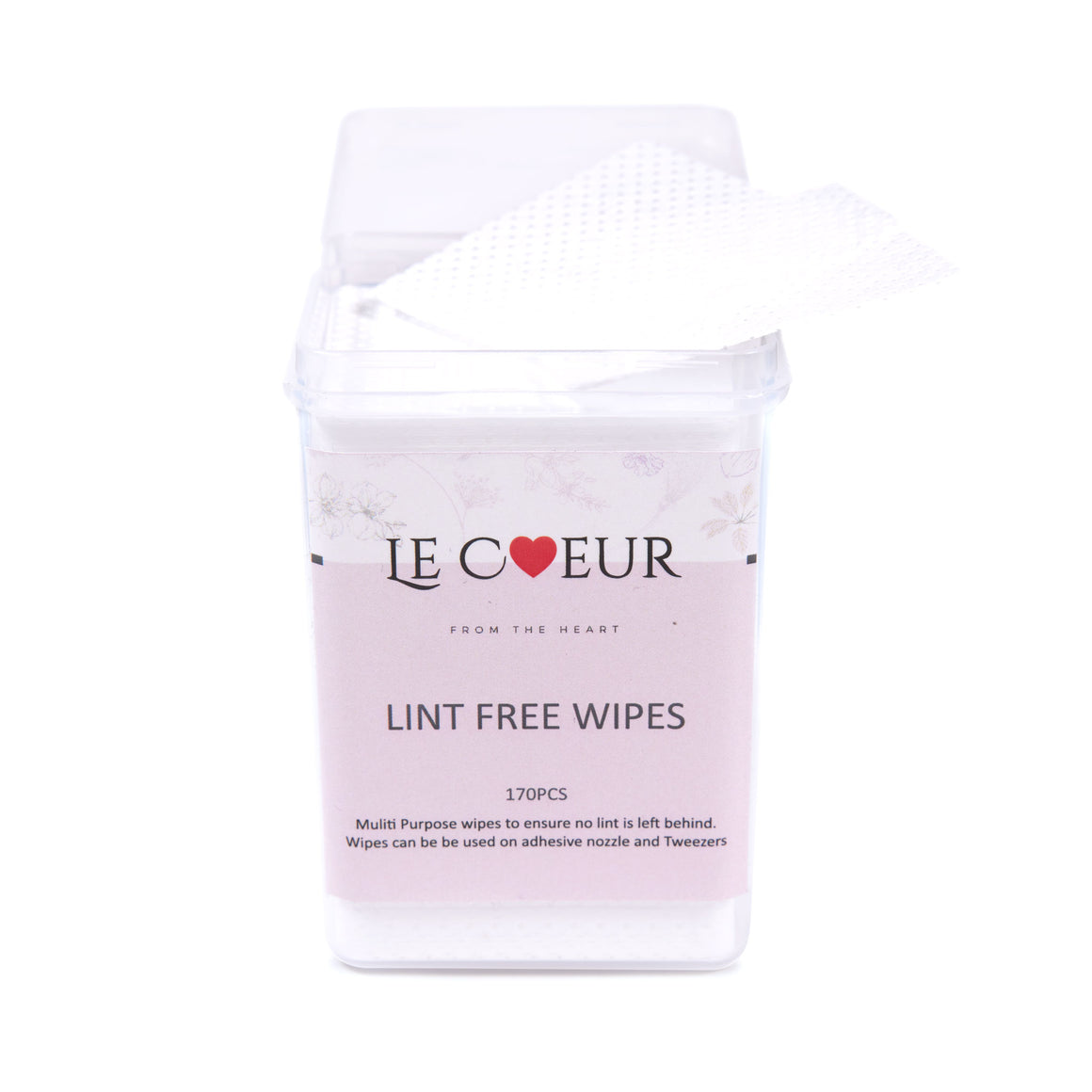 Le Coeur Lint Free Wipes (170 sheets)